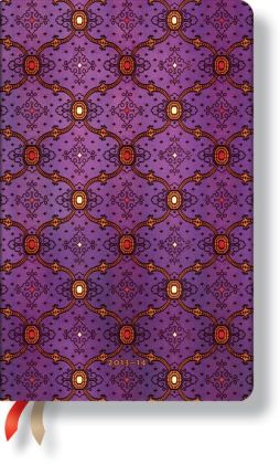 2014 French Ornate Violet Maxi 18-Month Dayplanner (5.5