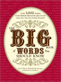 The Big Book of Words You Should Know: Over 3,000 Words Every Person Should be Able to Use (And a few that you probably shouldn't) (PagePerfect NOOK Book)