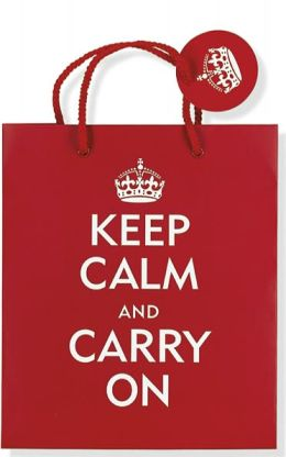 Keep Calm and Carry On Gift Bag Peter Pauper Press
