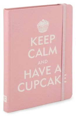 Pink Keep Calm and Have a Cupcake Bound Lined Journal (5''x7'')