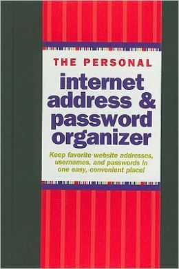 Personal Internet Address & Password Logbook Black