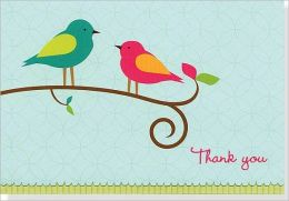 Bird Song Thank You Notes Set of 14