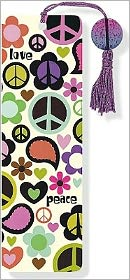 Peace Out Beaded Paper Bookmark