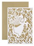 Product Image. Title: Angel Silhouette Laser Cut Christmas Boxed Card