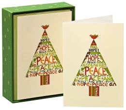 Peace Hope Tree Christmas Boxed Card