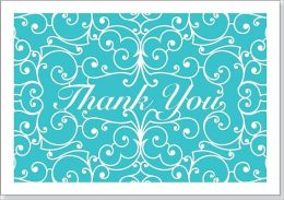 Laser Cut Thank You Note Cards Set of 14