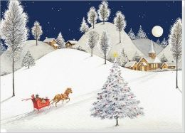 Moonlight Sleigh Ride Deluxe Boxed Holiday Cards