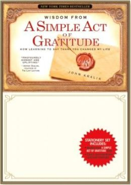 A Simple Act of Gratitude Book and Stationery Set