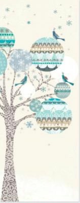 Tree And Ornament Collage Christmas Boxed Card