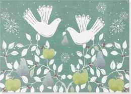 Doves With Fruit Christmas Boxed Card