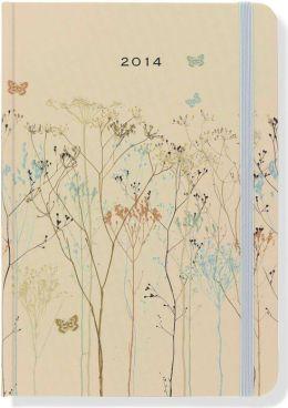 2014 Weekly Planner 5x7 Butterflies Bound Engagement Calendar
