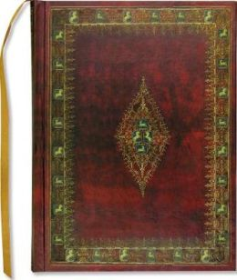 Golden Equine Maroon Bound Lined Journal 6 x 8
