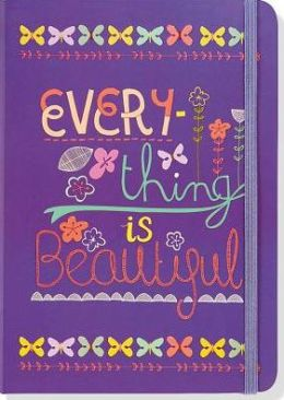 Everything is Beautiful Purple Lined Bound Journal 5x7