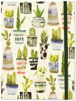 HOME & GIFT | 2019 Succulents Weekly Planner, 6 X 8 Flexi Cover