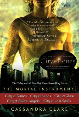 The Mortal Instruments Series (5 books): City of Bones; City of Ashes; City of Glass; City of Fallen Angels, City of Lost Souls