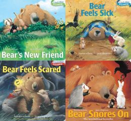 Bear Board Book 4-pack: Bear's New Friend; Bear Feels Sick; Bear Feels Scared; Bear Snores On