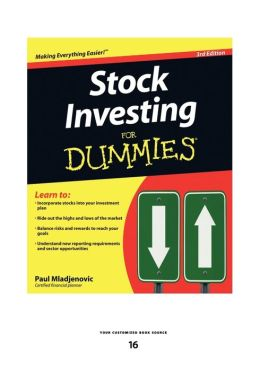 Stock Investing For Dummies (Large Print 16pt)