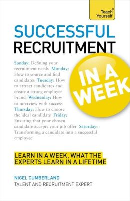 Successful Recruitment In a Week A Teach Yourself Guide