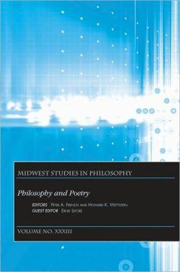 Midwest Studies in Philosophy, Philosophy and Poetry