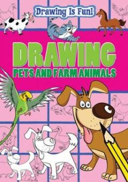 Drawing Pets and Farm Animals. by Trevor Cook, Lisa Miles, Rebecca Clunes