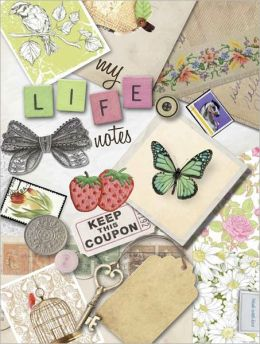 Life Canvas - My Life Notes Collage, tri-fold notebook with sticky notes