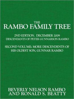 The Rambo Family Tree, Volume 2: more descendants of Gunnar Rambo, oldest son of Peter Gunnarson Rambo