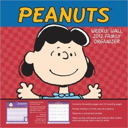 2012 Peanuts Weekly Wall Calendar