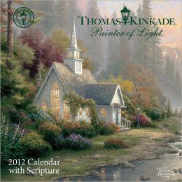 2012 Thomas Kinkade Painter of Light with Scripture Mini Wall Calendar