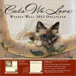 2012 Brookside: Cats We Love Weekly Wall Calendar
