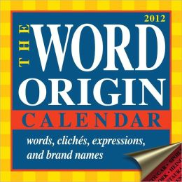 2012 Word Origin Box Calendar