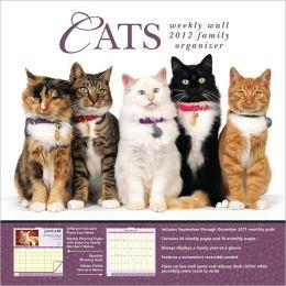 2012 Cats Weekly Wall Calendar