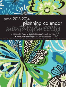 2014 Posh: Groovy Butterfly Monthly/Weekly Planner Calendar