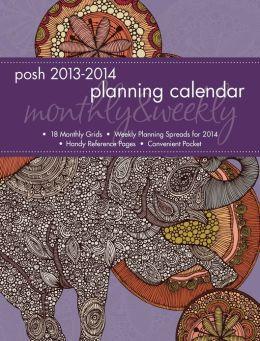 2014 Posh: Mosaic Elephant Monthly/Weekly Planner Calendar