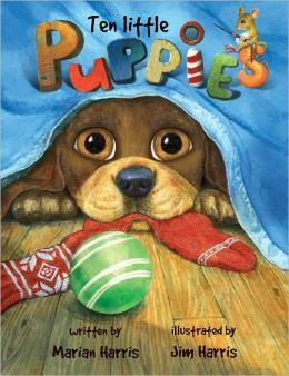 Ten Little Puppies Board Book: An Eyeball Animation Book