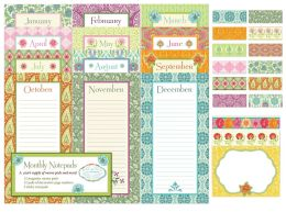Bella Floral - Lily Ashbury - Notepad Blister Box