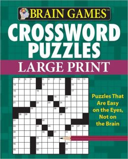 Brain Games: Crossword Puzzles, Large Print