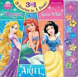Disney Princess Rapunzel Ariel Snow White 3 in 1 Sound Story