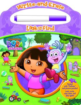 Dora: Write & Erase Look & Find