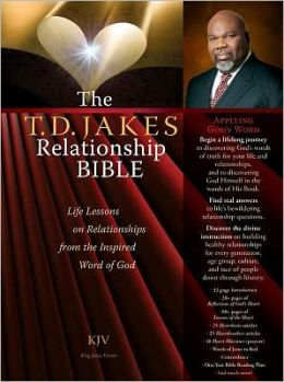 The T.D. Jakes Relationship Bible Deluxe Retail Edition (leatherette book in a Box): Life Lessons on Relationships from the Inspired Word of God