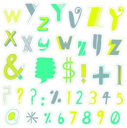 Type: Wall Decals by Mike Perry: 200 Peel-and-Stick Letters