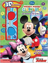 Look at This! Mickey Mouse Clubhouse: 3D Book to Color