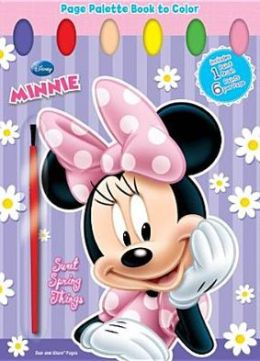 Minnie Mouse: Sweet Things: Page Palette Book to Color [With Paint Brush]