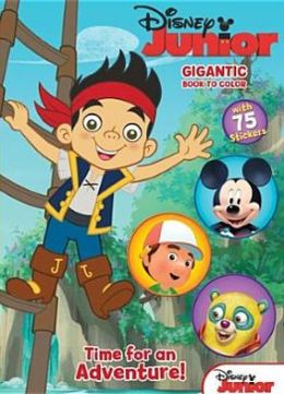Disney Junior - Time for an Adventure!: Gigantic Book to Color with Stickers