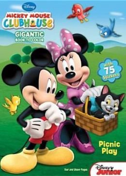Mickey Mouse Clubhouse Gigantic Book to Color [With Sticker(s)]