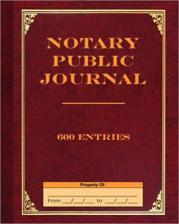Notary Public Journal 600 Entries