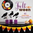 Book Cover Image. Title: Felt-o-ween:  40 Scary-Cute Projects to Celebrate Halloween, Author: Kathy Sheldon