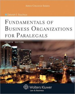 Fundamentals of Business Organizations for Paralegals 4e