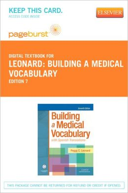 Building a Medical Vocabulary - Pageburst Digital Book (Retail Access Card): with Spanish Translations