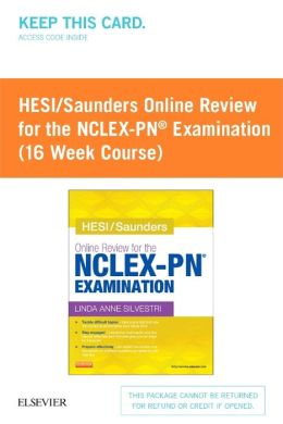 HESI/Saunders Online Review for the NCLEX-PN Examination (16 Week Course) (Retail Access Card)