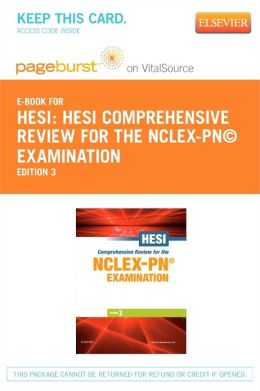HESI Comprehensive Review for the NCLEX-PN Examination - Pageburst E-Book on VitalSource + Evolve Access (Retail Access Cards)